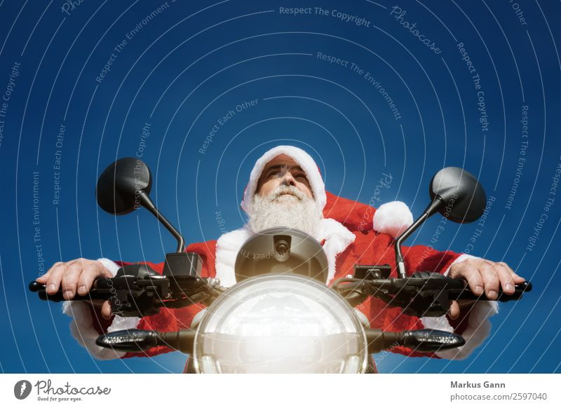 Human being Man Christmas & Advent Blue Red Joy Winter Adults Background picture Masculine Europe 45 - 60 years Photography Profession Facial hair