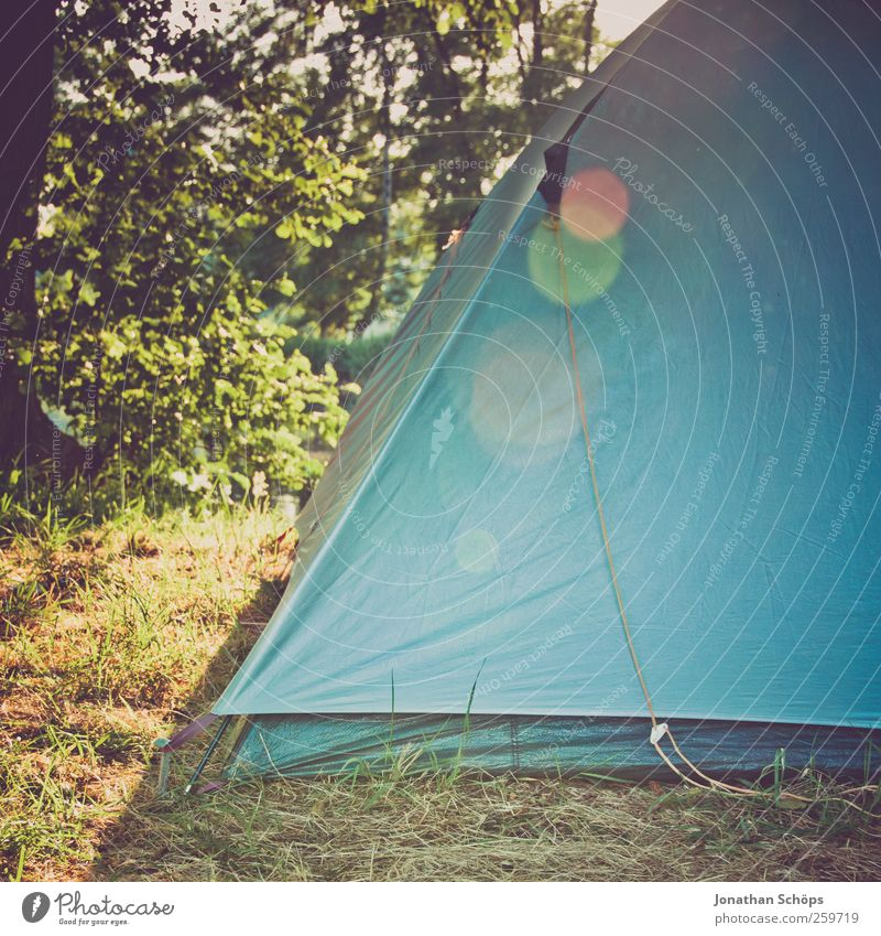 Corner of the tent Lifestyle Joy Happy Vacation & Travel Adventure Far-off places Freedom Camping Summer Summer vacation Environment Nature Beautiful weather