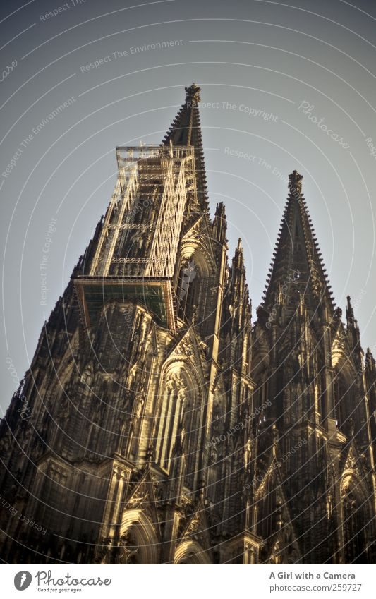 welcome to Germany Beautiful weather Cologne Town Downtown Old town Skyline Dome Tower Manmade structures Building Architecture Wall (barrier) Wall (building)