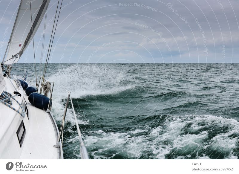 sail Sports Sailing Environment Nature Water Sky Waves Baltic Sea Ocean Adventure Vacation & Travel Time Attachment 2015 Sailing ship Colour photo Exterior shot