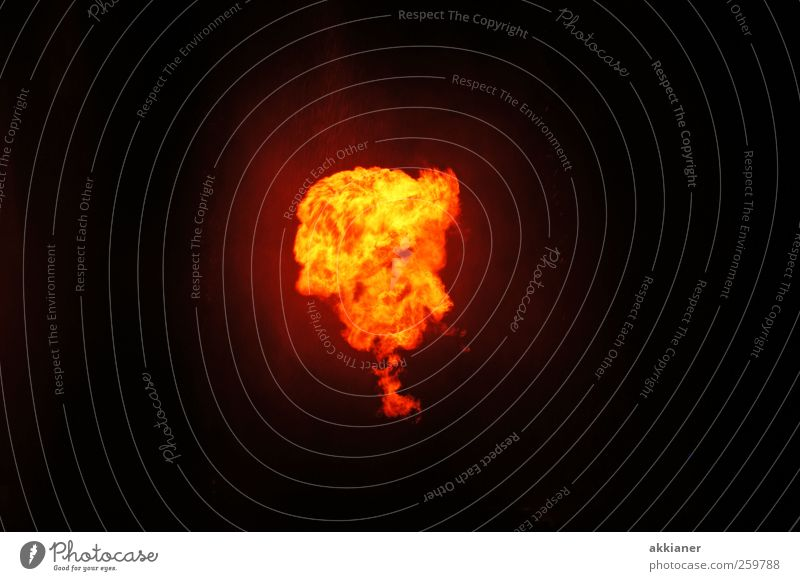 fireball Hot Bright Fire Firestorm Colour photo Exterior shot Deserted Copy Space left Copy Space right Copy Space top Copy Space bottom Neutral Background