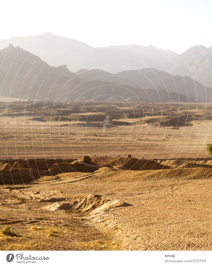 888 Environment Landscape Sunlight Summer Warmth Drought Hill Rock Mountain Desert Dry Yellow Sand Colour photo Exterior shot Deserted Copy Space top Day