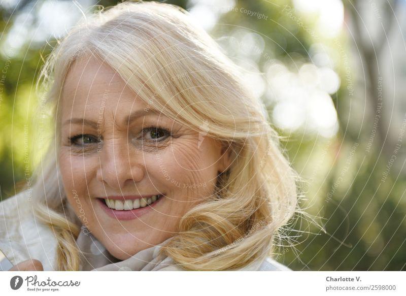 Woman Human being Beautiful Green White Calm Adults Senior citizen Natural Feminine Happy Contentment Illuminate Fresh Blonde Smiling
