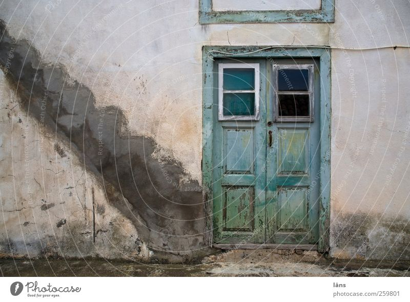 staircase joke House (Residential Structure) Old town Ruin Manmade structures Building Stairs Facade Door Authentic Decline Change Canaries La Palma