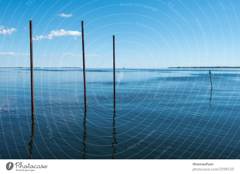 Sea, calm, poles Vacation & Travel Far-off places Freedom Summer Summer vacation Sun Ocean Nature Air Water Sky Horizon Climate Beautiful weather Island Harbour