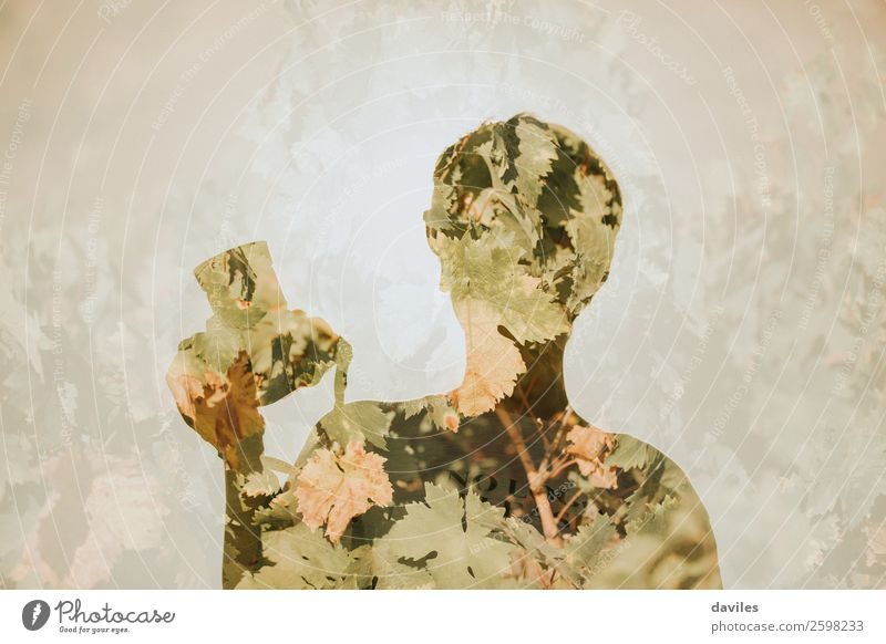 Double exposure photographer Lifestyle Beautiful Vacation & Travel Summer Camera Human being 1 18 - 30 years Youth (Young adults) Adults Nature Plant Leaf