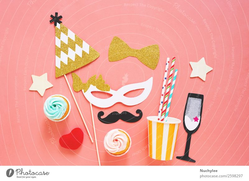 Cute party props Joy Face Yellow Love Happy Style Feasts & Celebrations Fashion Design Decoration Retro Birthday Heart Gift Photography