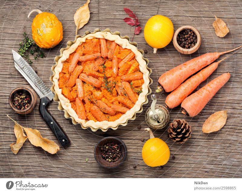 Pie with carrots and pumpkin vegetable pie autumn leaf fall food healthy delicious dinner homemade vegetarian cuisine cooking tasty crust green cake cooked