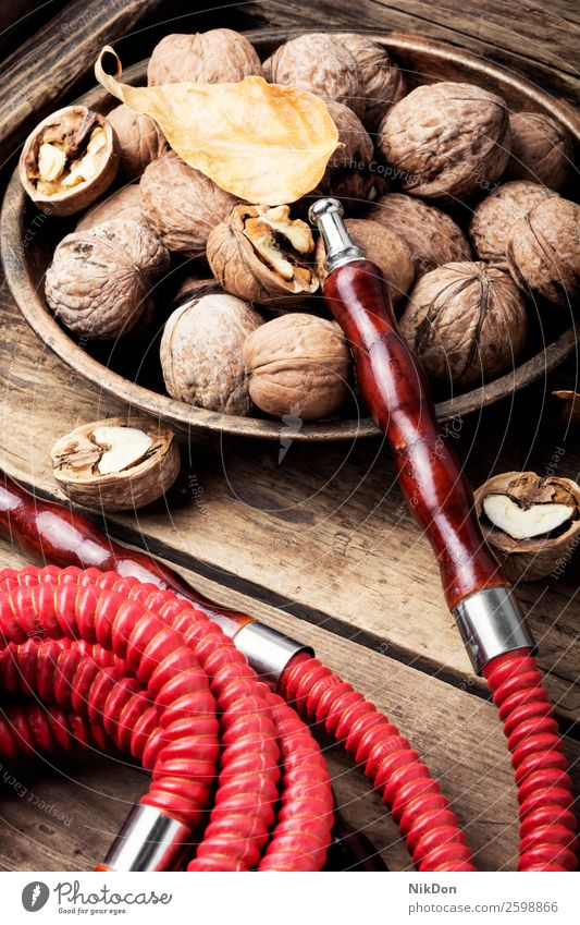 Hookah with aroma walnut hookah shisha smoking tobacco nargile smoke apple nicotine east relaxation fruit arabic mouthpiece pipe fragrant pastime