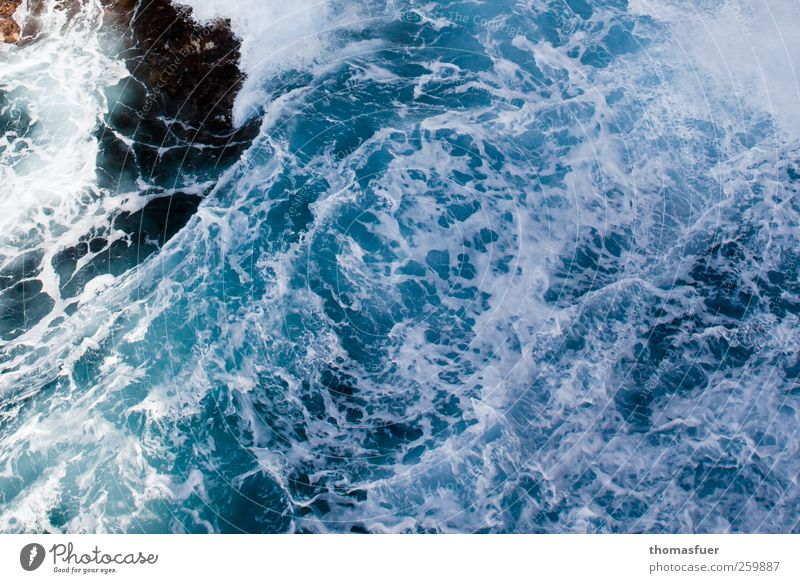 white water Vacation & Travel Summer vacation Ocean Waves Nature Elements Water Wind Gale Coast Bay Fjord Reef Island Threat Gigantic Wild Anger Blue Emotions