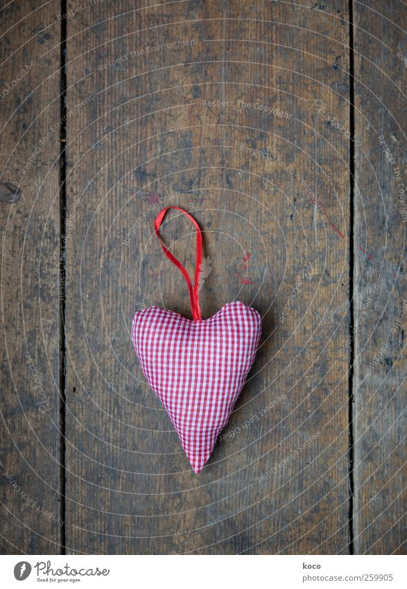 Old White Beautiful Red Black Love Wood Small Brown Heart Romance Point Kitsch String Infatuation Bow