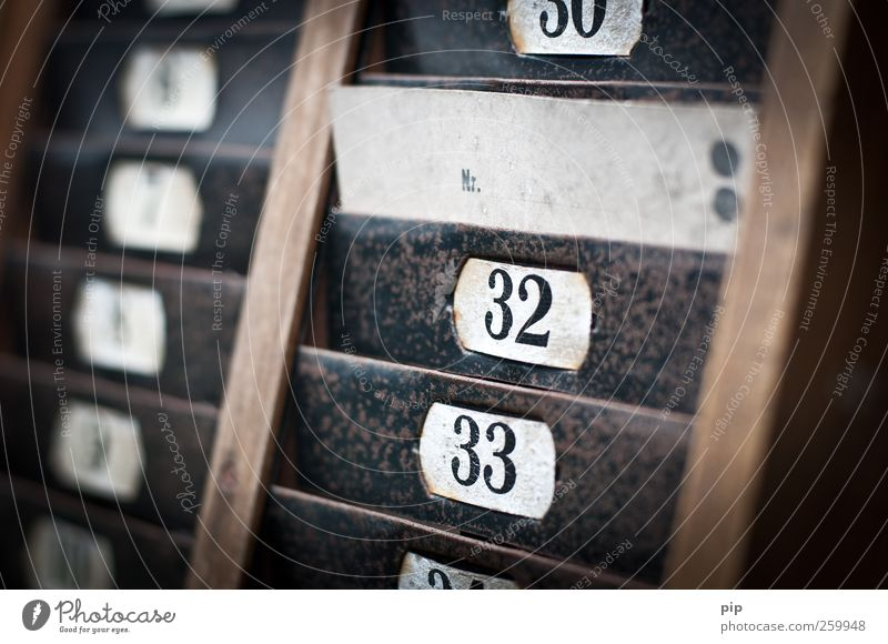 Old Black Wood Metal Brown Signs and labeling Retro Digits and numbers Past Typography Rust Nostalgia Ancient Label Labor time Index card