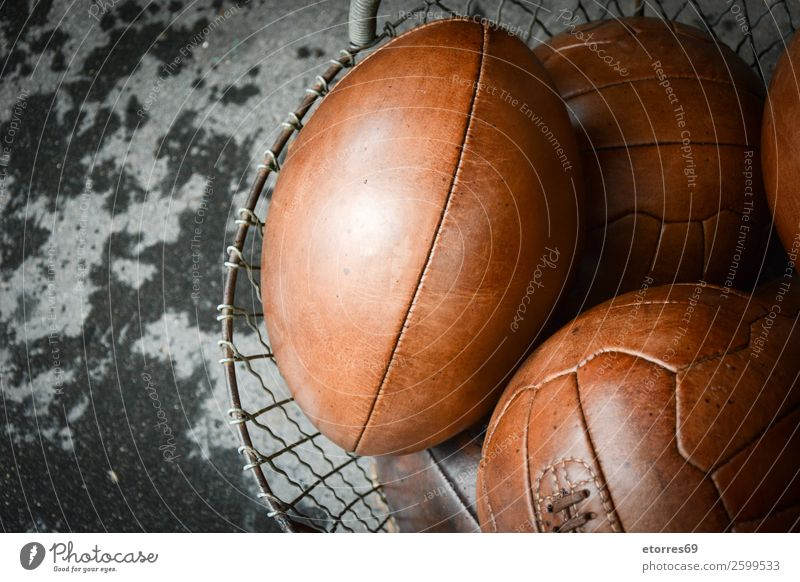 old leather balls Ball Basket box Broom England engrave Fashion Soccer Foot ball American Football Authentic Gloves Leather London Old Rugby Sports stitch