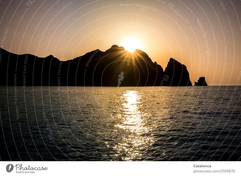 Nature Summer Blue Water Sun Ocean Black Environment Coast Orange Rock Pink Moody Trip Horizon Illuminate
