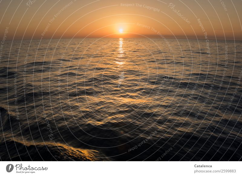 Nature Summer Blue Water Landscape Ocean Life Environment Movement Orange Moody Horizon Gold Waves Glittering Power