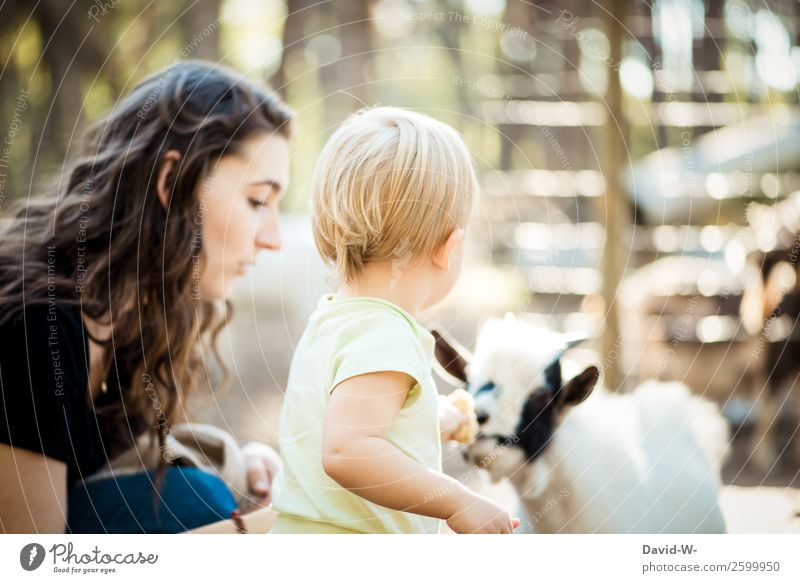Woman Child Human being Nature Animal Joy Girl Adults Life Environment Feminine Family & Relations Together Infancy Cute Observe