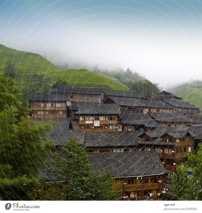 fellowship Vacation & Travel Far-off places Summer Architecture Landscape China Asia House (Residential Structure) Living or residing Simple Exotic Blue Brown