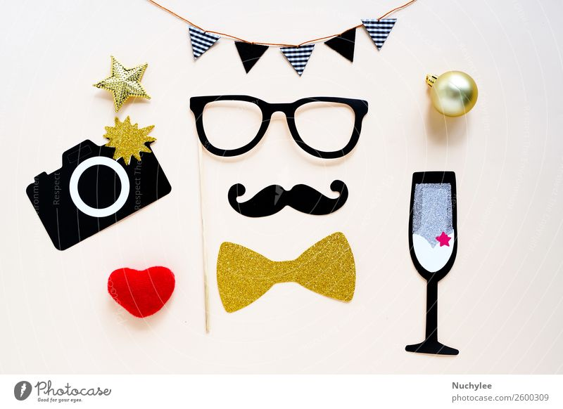 Cute party props accessories Joy Face Yellow Love Happy Style Feasts & Celebrations Fashion Design Decoration Retro Birthday Heart Gift Photography