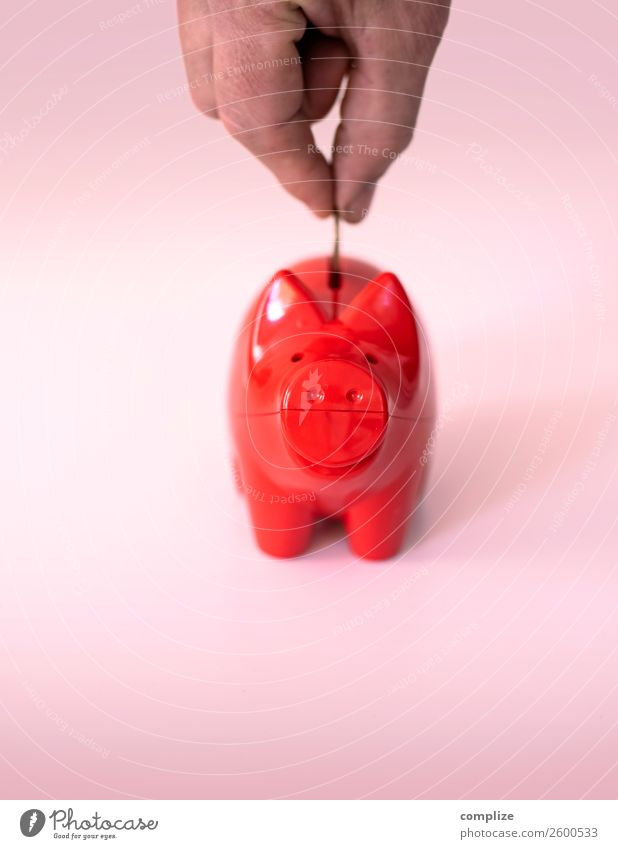 Red piggy bank Lifestyle Shopping Luxury Child Office Economy Trade Financial Industry Stock market Financial institution Business Success Sign Money Save