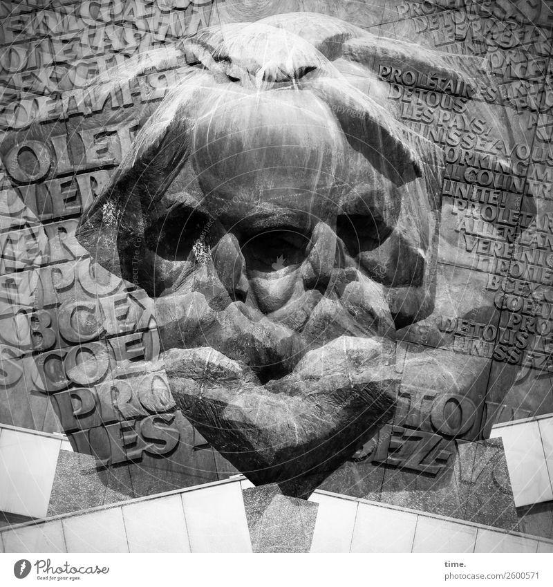 complex|e Thought structure Study Philosopher Writer Marxism-Leninism Masculine Man Adults 1 Human being Art Work of art Sculpture Chemnitz Downtown