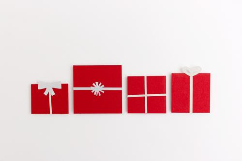 A series of Christmas gifts Lifestyle Shopping Design Christmas & Advent Esthetic Positive Beautiful Red White Virtuous Happiness Altruism Surprise Friendship