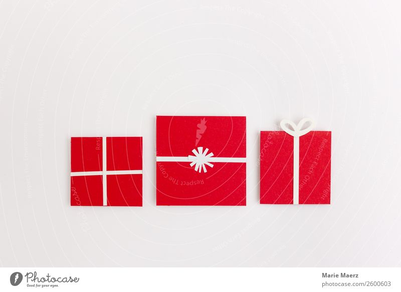 Red paper gifts Shopping Style Happy Feasts & Celebrations Christmas & Advent Large Modern Positive Beautiful White Virtuous Joy Grateful Friendship Surprise
