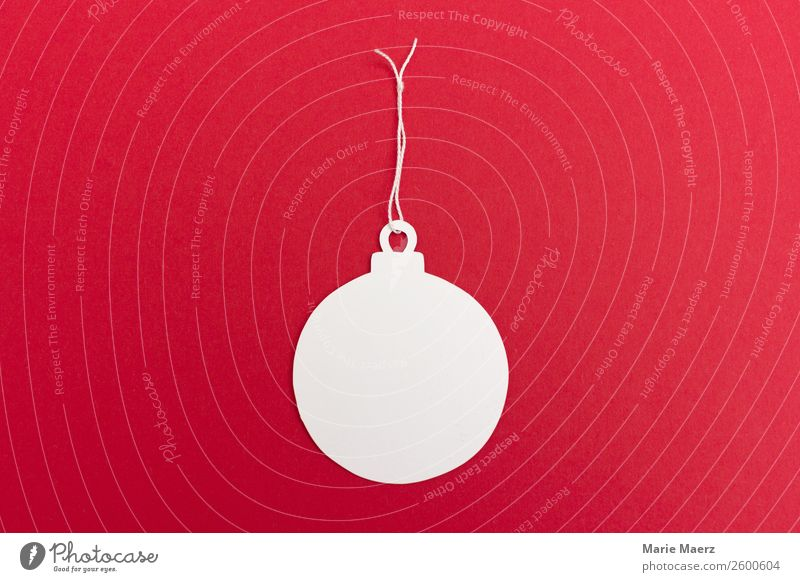 Christmas & Advent White Red Happy Feasts & Celebrations Contentment Retro Signs and labeling Happiness Paper Round Card Desire Sphere Make Anticipation