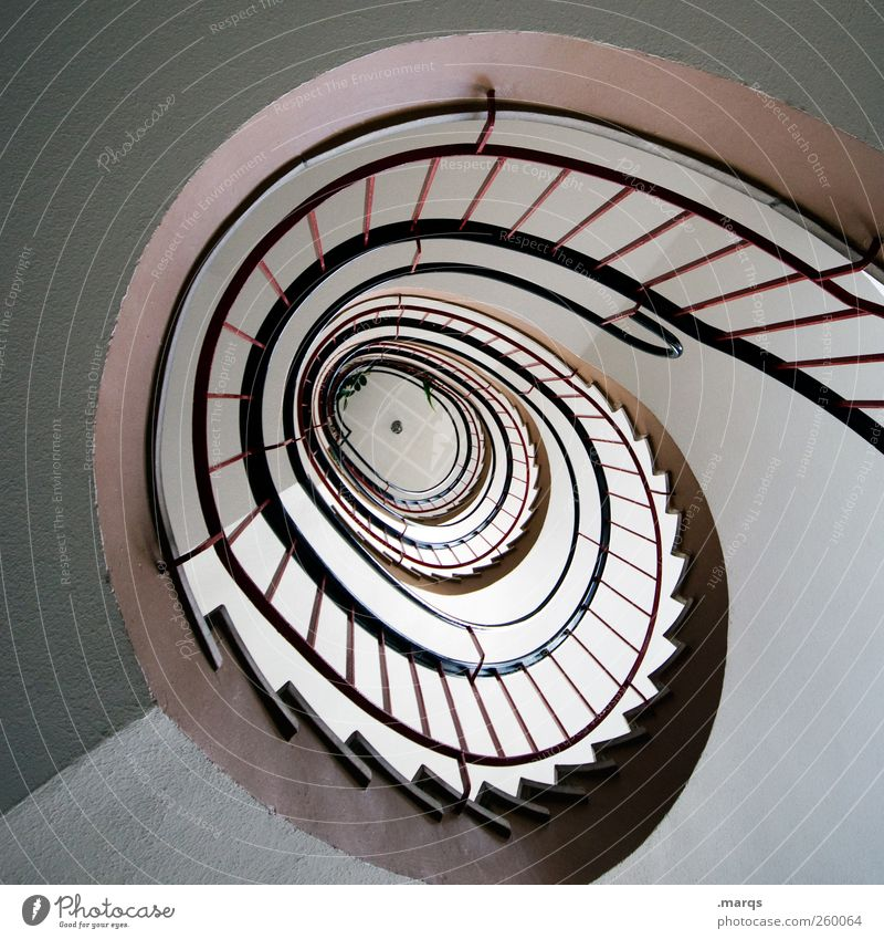Architecture Lanes & trails Interior design Stairs Esthetic Banister Staircase (Hallway) Spiral Career Go up Winding staircase