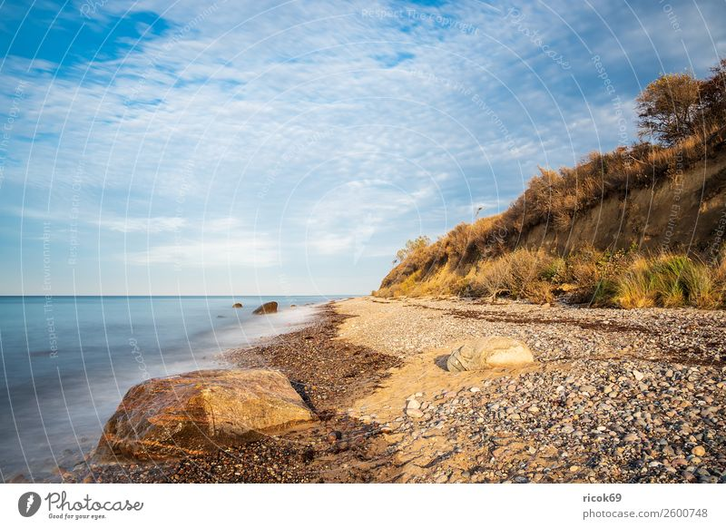 Stones at the Baltic Sea coast near Elmenhorst Vacation & Travel Tourism Beach Ocean Waves Nature Landscape Clouds Weather Tree Rock Coast Blue Idyll Climate