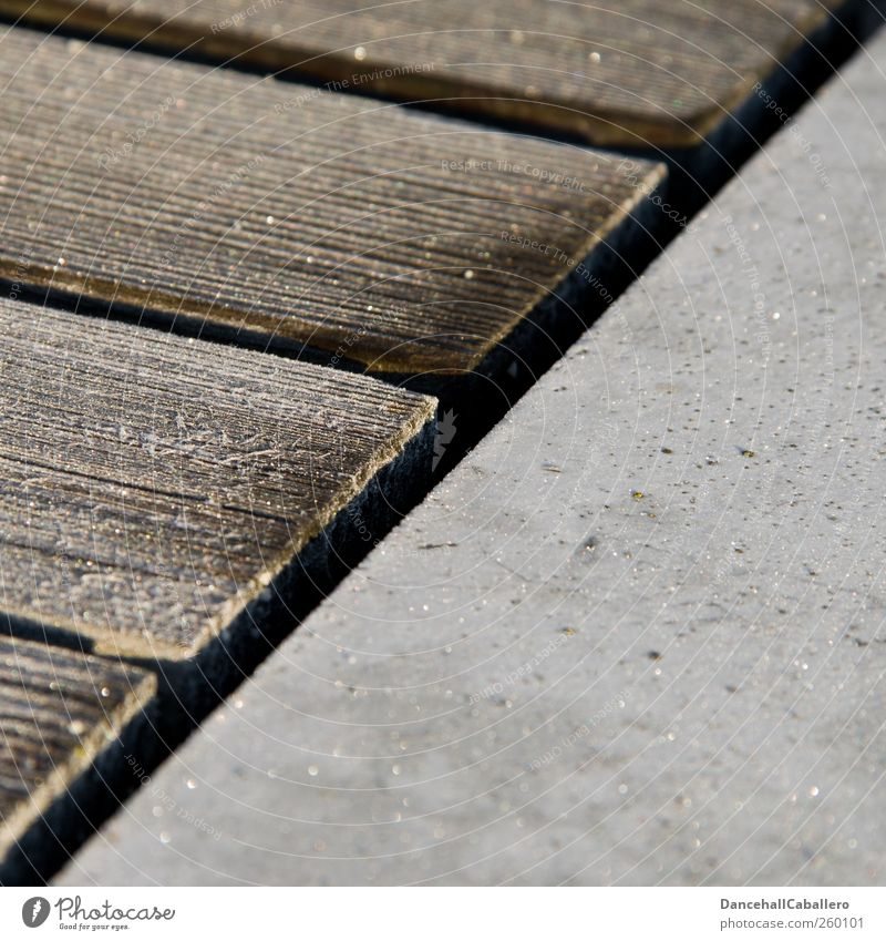Wood Gray Brown Line Design Ice Dirty Esthetic Creativity Concrete Construction site Frost New Border Wooden board Square