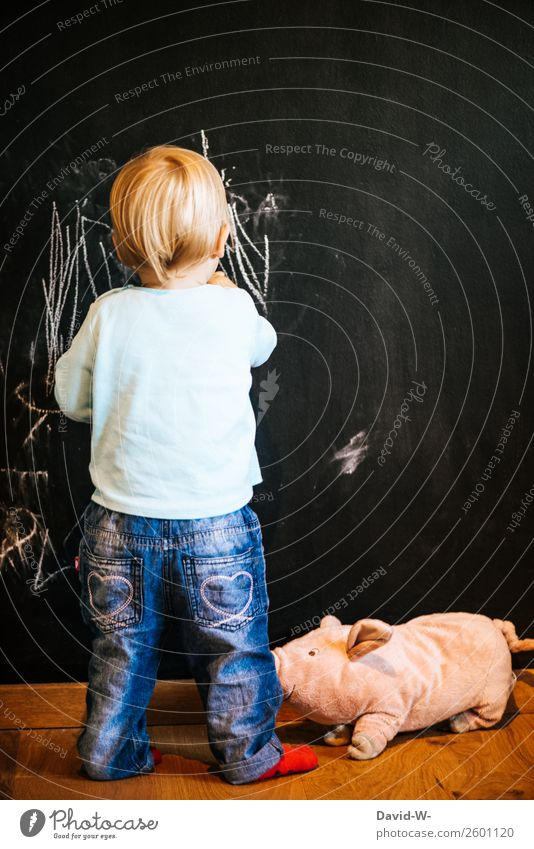 Little Artist Elegant Style Parenting Education Study Blackboard Child Toddler Girl Boy (child) Infancy Life 1 Human being 1 - 3 years Draw Joy Contentment