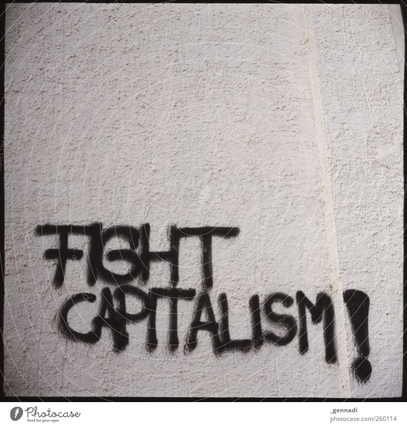 Announcement Wall (barrier) Wall (building) Facade Aggression Figure of speech Text Capitalism Graffiti Analog Frame Criticism Soviet Union Empty Clarity Slogan