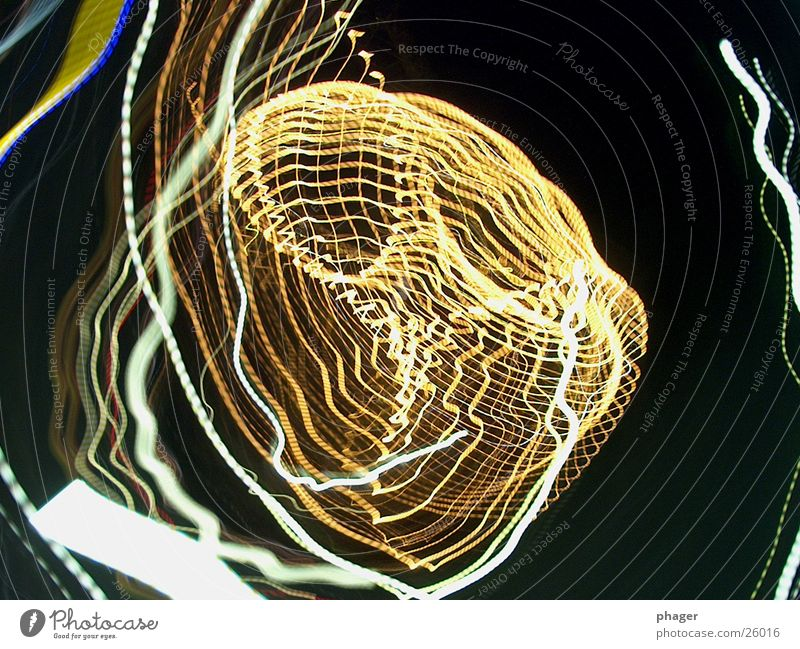 light earthings 2 Strip of light Night Circle Rotation Abstract Tracks Rotate Rotated Whirlpool Tracer path Leisure and hobbies Movement Lamp