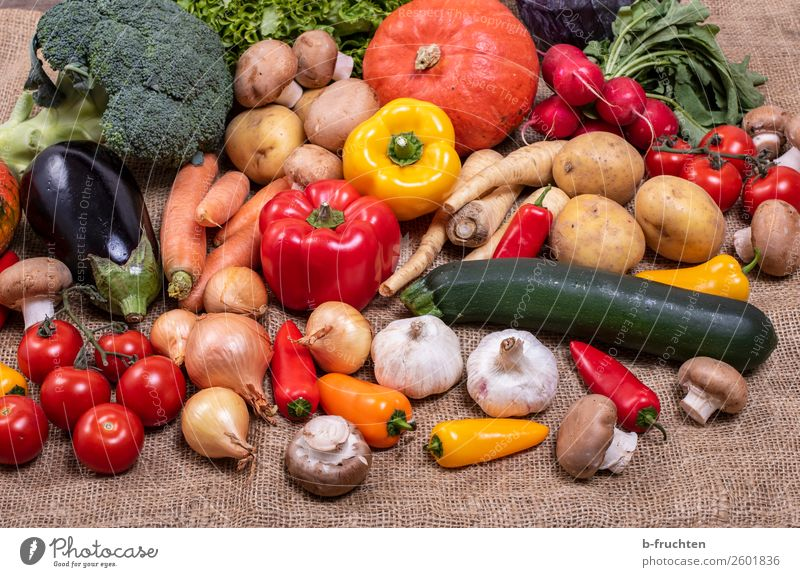 vegetable diversity Food Vegetable Lettuce Salad Organic produce Vegetarian diet Healthy Eating Select Fresh Many Multicoloured Versatile Supply Jute Jute sack