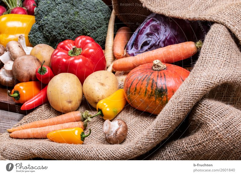 Healthy Eating Autumn Nutrition Fresh To enjoy Delicious Vegetable Harvest Select Organic produce Vegetarian diet Salad Lettuce Difference