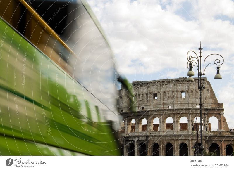 SIGHTSEEING Vacation & Travel Tourism Trip Sightseeing City trip Clouds Rome Italy Europe Manmade structures Tourist Attraction Landmark Colosseum Transport