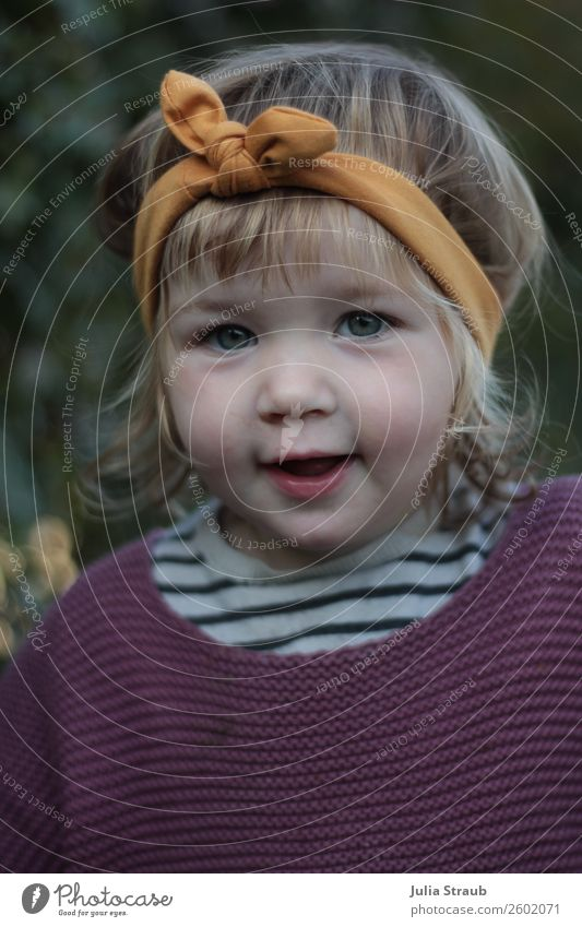 Girl Browband Knit Sweater Feminine Toddler 1 Human being 1 - 3 years Knitted sweater Striped Headband Bow Brunette Blonde Short-haired Curl Bangs To talk Brash