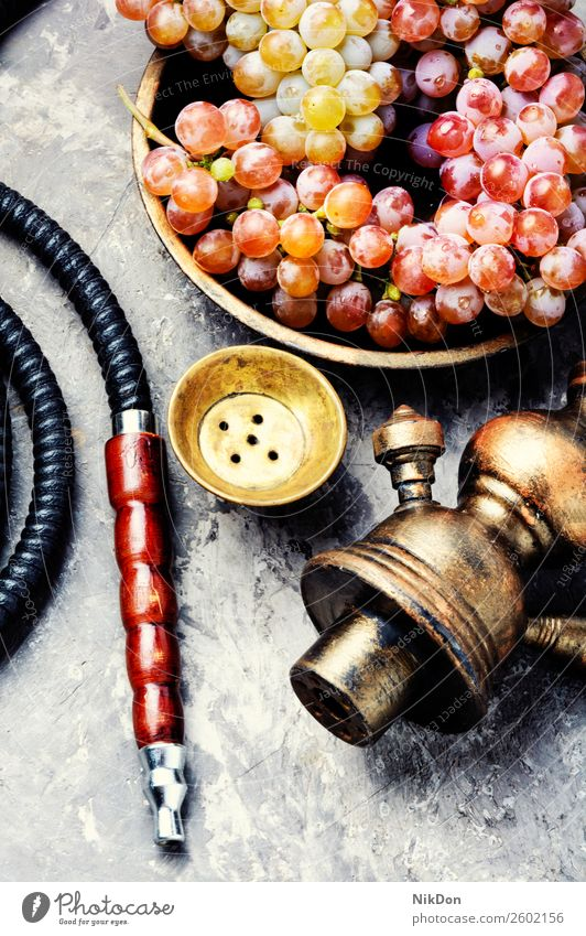 Hookah with aroma grapes hookah shisha smoking tobacco nargile berry smoke nicotine east relaxation fruit arabic mouthpiece pipe fragrant pastime