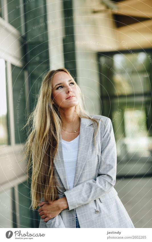 Blond girl wearing casual clothes in the street. Lifestyle Style Beautiful Hair and hairstyles Human being Feminine Young woman Youth (Young adults) Woman