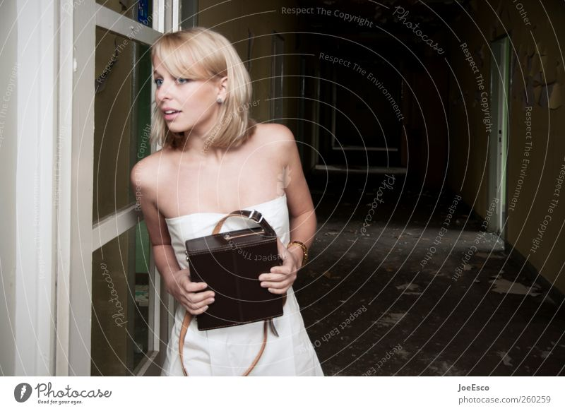 #260259 Style Room Night life Going out Woman Adults Life 1 Human being Ruin Tunnel Door Fashion Dress Blonde Observe Discover To hold on Looking Dark