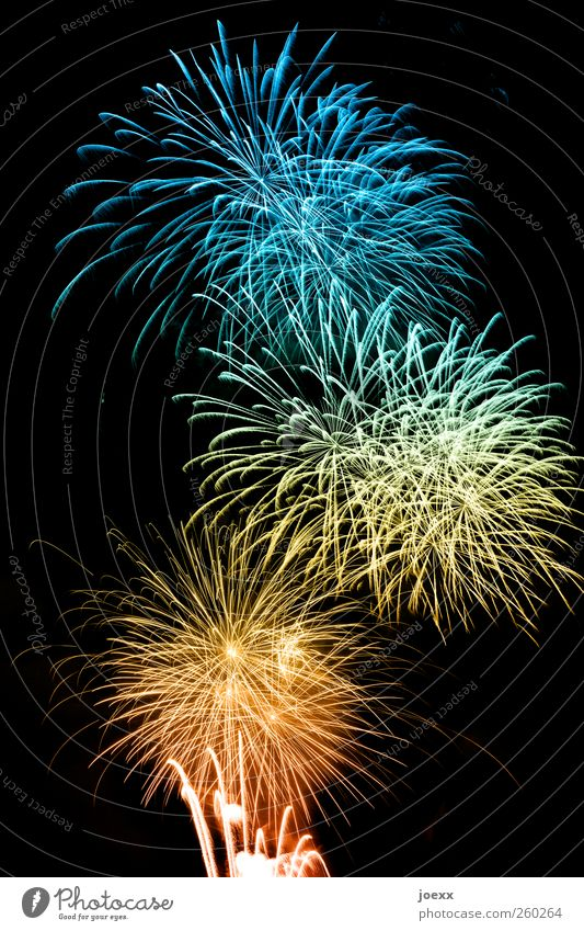 Eight100 Feasts & Celebrations New Year's Eve Bright Crazy Blue Multicoloured Yellow Gold Green Red Black Happy Colour Desire Firecracker Colour photo
