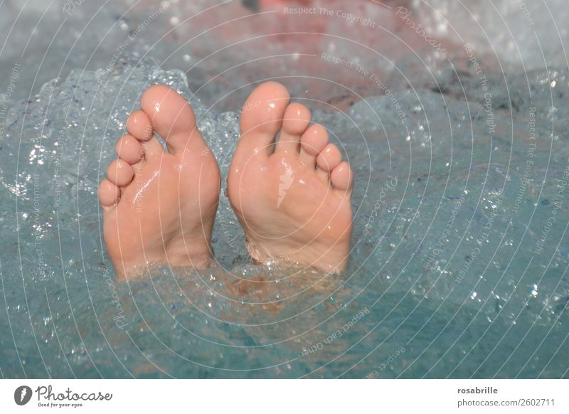 summer vacation Lifestyle Joy Happy Beautiful Pedicure Wellness Well-being Contentment Relaxation Calm Spa Swimming pool Whirlpool Swimming & Bathing Summer