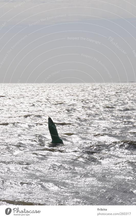 Sky Blue Water Ocean Gray Metal Horizon Waves Glittering Wet North Sea