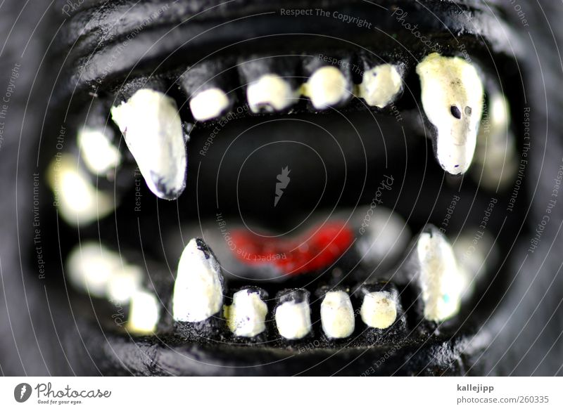 caries and bacteria Wild animal 1 Animal Creepy Threat Evil Aggression Teeth Bite Attack Aggressive To feed Tongue Monster Ogre Gorilla Set of teeth Monkeys Dog