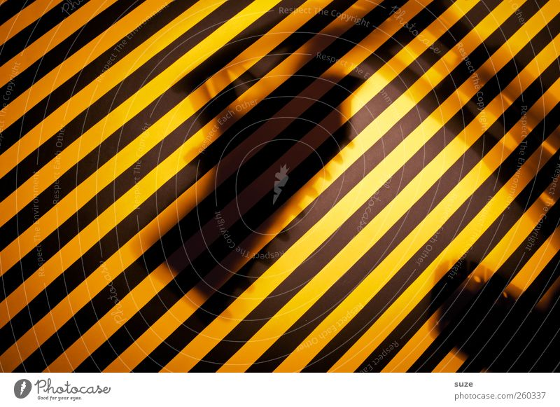 Black Yellow Funny Work and employment Signage Stripe Construction site Creativity Idea Warning label Striped Excavator Gaudy Warning sign Rebuild