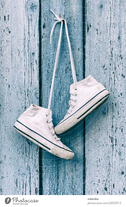 old white old textile sneakers Old Blue White Relaxation Wood Sports Style Fashion Design Modern Footwear Fitness Clothing Idea Fence Hip & trendy
