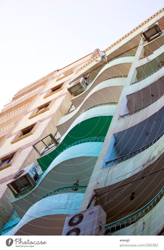 rainbow slum House (Residential Structure) High-rise Manmade structures Building Architecture Wall (barrier) Wall (building) Facade Balcony Exceptional