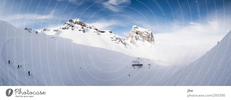 Blue White Winter Clouds Cold Life Snow Landscape Sports Mountain Lanes & trails Rock Fog Trip Tourism Driving