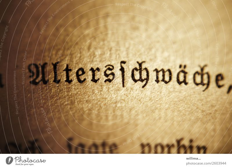 Old Characters Transience Page Exhaustion Feeble Precarious Gothic script Latin script