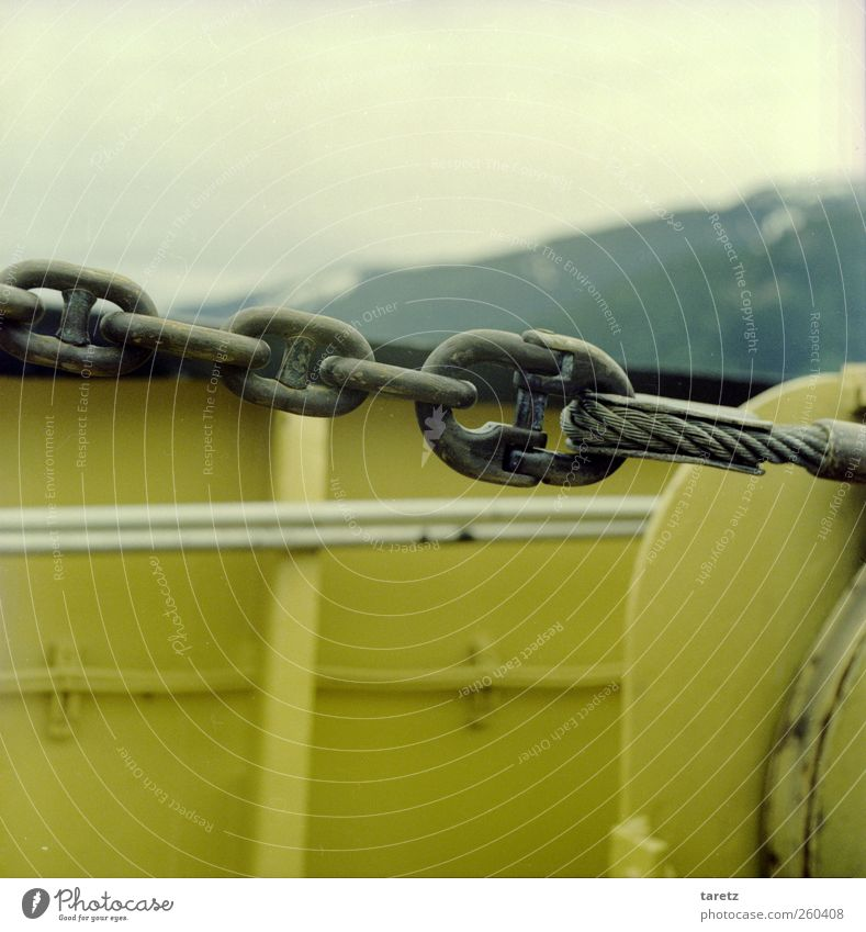 Yellow Cold Mountain Force Simple Safety Firm Steel cable Navigation Chain Hold Close Pull Railing Ferry Stability